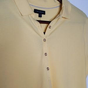 The Limited Tops - NWT The Limited yellow polo shirt size XL